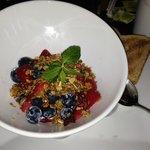 Greek yogurt with fresh berries and granola