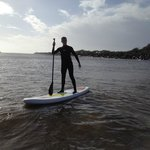 Paddle boarding on the Buller River.
