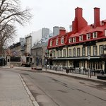 Start of the restaurant strip, Quebec City