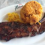 Java rice with barbecue pork spareribs