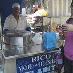Mote con Huesillo, chá gelado delicioso!