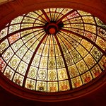 Gorgeous stain glass lobby dome