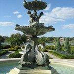 Hollis Garden Swan Fountain.