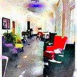 bar/breakfast area using Waterlogue app