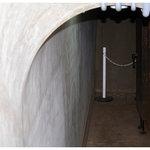防空壕の出入り口(当時の呼び方は御文庫)