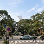 ホテルは、横浜スタジアムのすぐ近くにあります