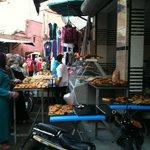 En allant vers la tannerie de Marrakech