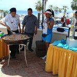 Pool area - Cooking Paella with Finisterra Hotel Chef