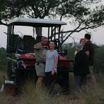 A wine at sunset on safari