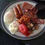 Big breakfast with Irish Sausages and Bacon at The Blarney Irish Bar, La Cala de Mijas .........