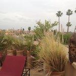 Sur la terrasse du Riad