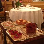 one of four dessert carts