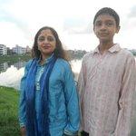 at Hatir Jheel with son