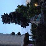Strange sculpture outside hotel