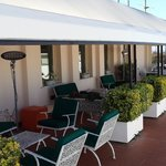 The seating on the terrace