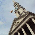 ranbow flag at London Pride