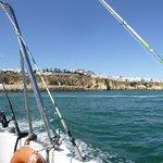 Fishing trip off the coast (getting a tan!)