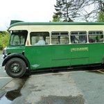 vintage bus that goes to Hawes from Redmire