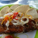 Red snapper (head) & bammies
