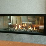 落ち着く暖炉