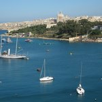 Balcony view from 5th floor front to Valetta