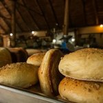 Fresh bread is baked daily.