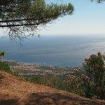 Panorama della zona di Calagonone vista da galleria Dorgali