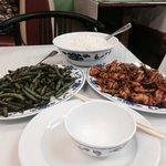 Spicy Green Beans and Sichuan Shrimp