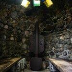 Inside the amazing authentic Mayan Sauna!