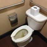 Dirty lobby men's room