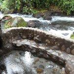 Hot tub near the creek