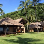 The rooms with ocean view with super well maintained garden