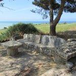 Greeks ruins on sea.