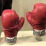 ali's boxing gloves