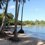 La plage du village de pêcheur, qui se mérite après 1h de piste