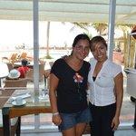 aca con mi amiga Monica una muy linda persona del restaurant Aquario