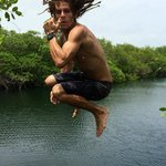 diving in cenote!