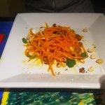 Ensalada de zanahoria y avellanas