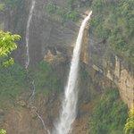 view of Nohkalikai water falls