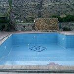 piscine vide lors de notre séjour !