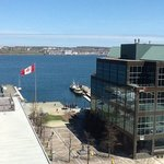 View from suite at Radisson suites Halifax