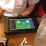 The tablet for Texas Hold'em