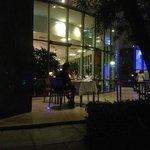 Patio outside lobby