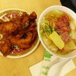 Saimin & Fried Pork Chops