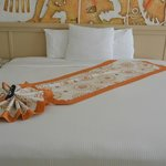 Beautifully decorated bed