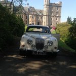 My V8  and Inverlochy Castle Hotel