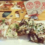 Deliscious!! The funghetto and meat lovers slices