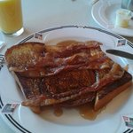french toast bacon and syrup! YUMMM!