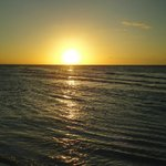 tramonto spiaggia fronte casa