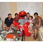 Last night surprise visit from Elmo!